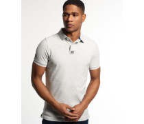 Herren Classic Piqué Polo-Shirt grau