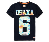 Herren Osaka Hibiscus T-Shirt marineblau