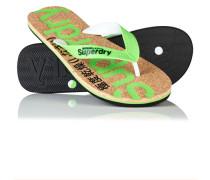 Herren Cork Flip Flops grün