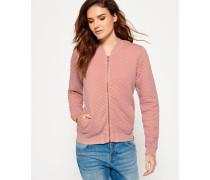 Damen Beach Micro Jersey Bomberjacke pink