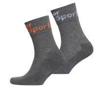 Herren Halblange Dry Socken im 2er-Pack hellgrau