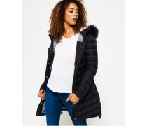 Damen Chevron Super Fuji Felljacke schwarz