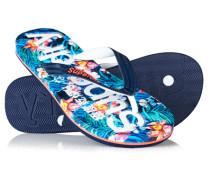 Damen Allover-Print Flip Flops bunt