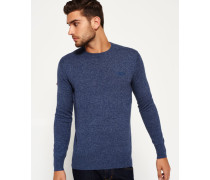 Herren Orange Label Crew Pulli blau