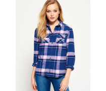 Damen Milled Flannel Hemd blau