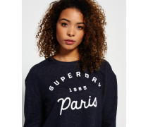 Damen Traveller Crew Neck Sweatshirt blau