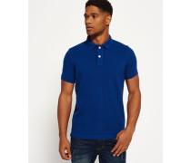 Herren Vintage Destroyed Polohemd aus Pikee blau