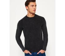 Herren Garment Dyed L.a. Textured Crew Neck Sweatshirt dunkelgrau