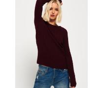 Damen Croyde Pullover mit Zopfmuster rot