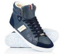 Herren Super Sleek High-Top Turnschuhe marineblau