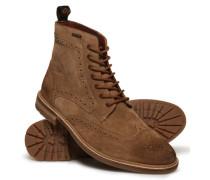 Herren Brad Brogue Stamford Boots braun