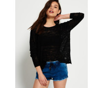 Damen Nevada Springs Slub Strickshirt schwarz