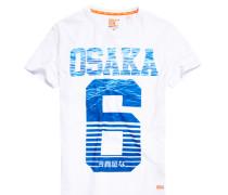 Herren Osaka Aqua Stripe T-Shirt weiß