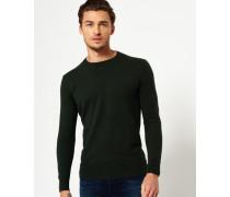 Herren Orange Label Pullover mit Rundhalsausschnitt grün