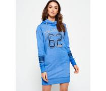 Damen Tri League Slouch Hoodie Kleid blau
