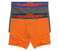 Herren Doppelpack Sports Boxershorts orange
