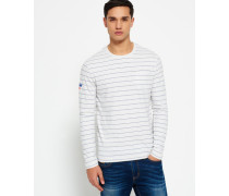 Herren Dartmouth Stripe Long Sleeve Pocket T-Shirt grau
