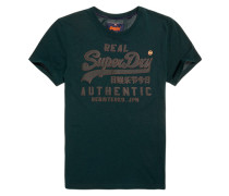 Herren Vintage Logo Authentic Mono T-Shirt grün