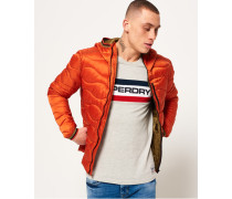 Herren Wave Steppjacke mit Kapuze orange