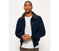 Herren Wax Flight Borg Bomberjacke marineblau