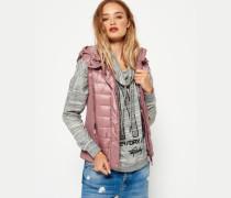 Damen Luxe Fuji Weste mit Doppelreißverschluss pink
