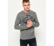 Herren Grade A Langarm-T-Shirt dunkelgrau