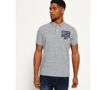 Herren Coaches Polo-Shirt grau