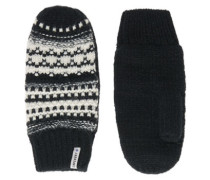 Damen Nordic Pattern Handschuhe creme
