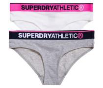 Damen Athletic Slips im Doppelpack grau