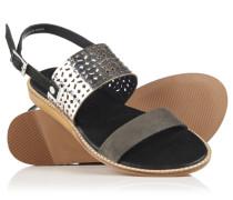 Damen Sandbar Double Strap Sandalen schwarz