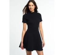 Damen Erin Collar Kleid schwarz