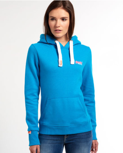 superdry damen superdry damen orange label hoodie blau reduziert. Black Bedroom Furniture Sets. Home Design Ideas