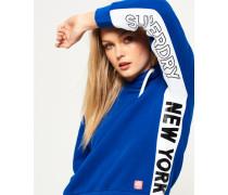 Damen Urban Hoodie mit Einsätzen blau