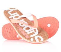Damen Kork-Flipflops pink