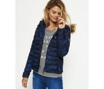 Damen Fuji Slim Kapuzenjacke mit Doppelreißverschluss blau