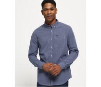Herren London Button-down-Hemd blau