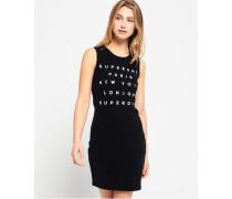 Damen Kleid mit Spitzenbesatz schwarz