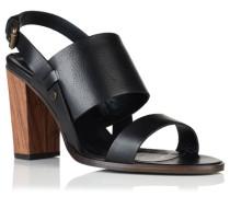 Damen Blake Wooden Heel Sandalen schwarz