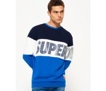Herren Japan City Breakers Pullover mit Rundhalsausschnitt blau
