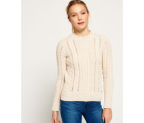 Damen Ryder Cable Strickpulli creme