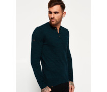Herren Orange Label Grandad-Strickpulli grün