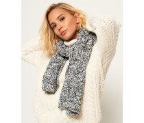Damen Nebraska Schal mit Zopfmuster schwarz