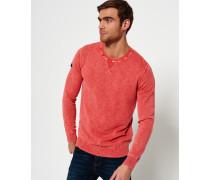 Herren Garment Dyed L.a. Crew Neck Sweatshirt rot