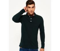Herren Classic Piqué Polo-Shirt grün