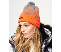 Damen Snow Logo Mütze grau