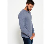 Herren Orange Label Sweatshirt mit Rundhalsausschnitt grau