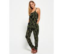 Damen Tropical Jumpsuit grün