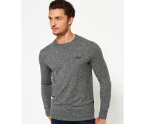 Herren Orange Label Pullover mit Rundhalsausschnitt Grey