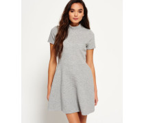 Damen Erin Collar Kleid grau