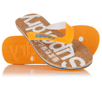 Herren Kork-Flipflops orange